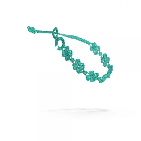Náramok CRUCIANI Štvorlístok smaragdová zelená
