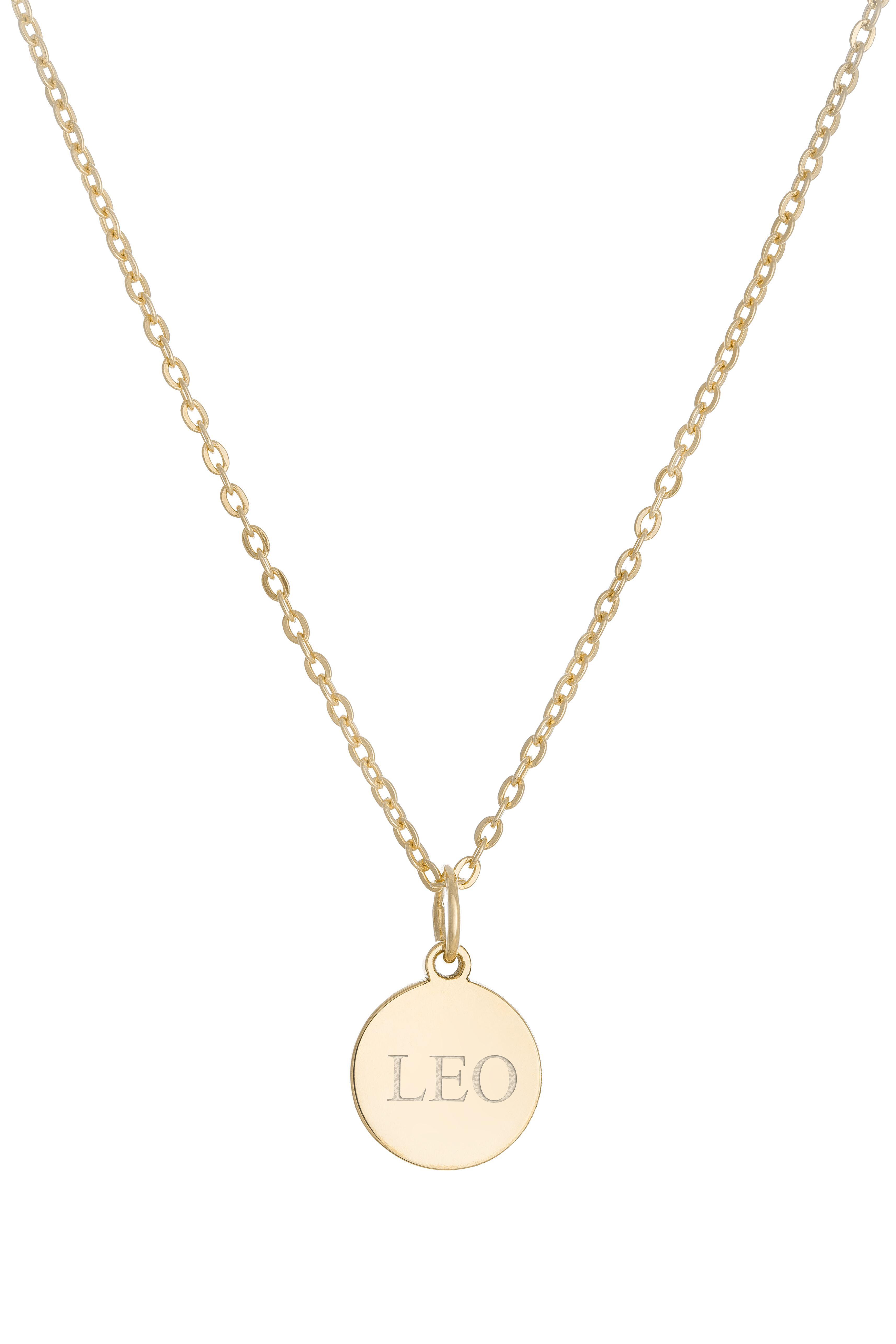Náhrdelník BY LEON.Y. 14 kt zlato, Medailón s textom podľa želania