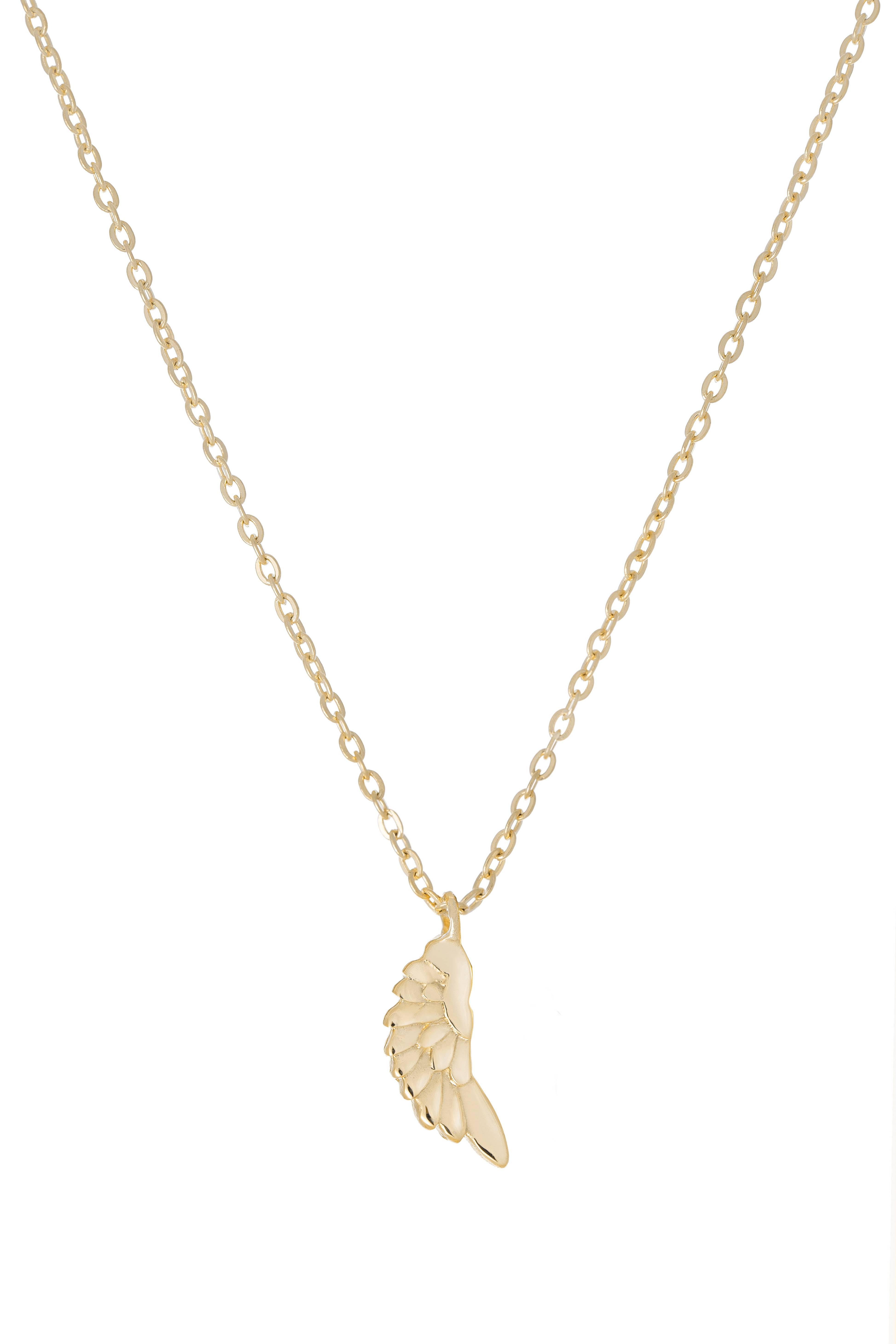 Náhrdelník BY LEON.Y., 14kt zlato, Anjelské ochranné krídlo