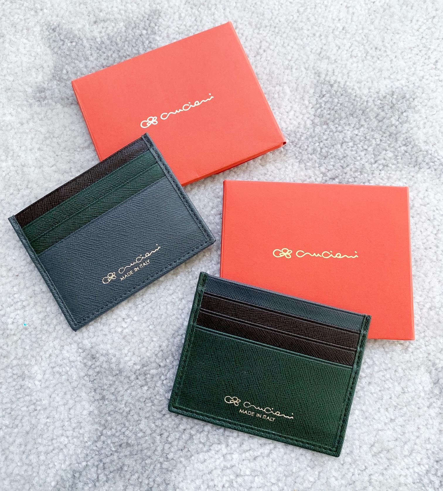 Peňaženka CRUCIANI na kreditné karty, Vojenská zelená