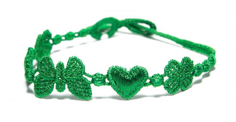 Náramok CRUCIANI Šťastie - láska - hojnosť zelená