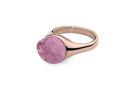 Prsteň QUDO Garda rose gold svetlo ružová