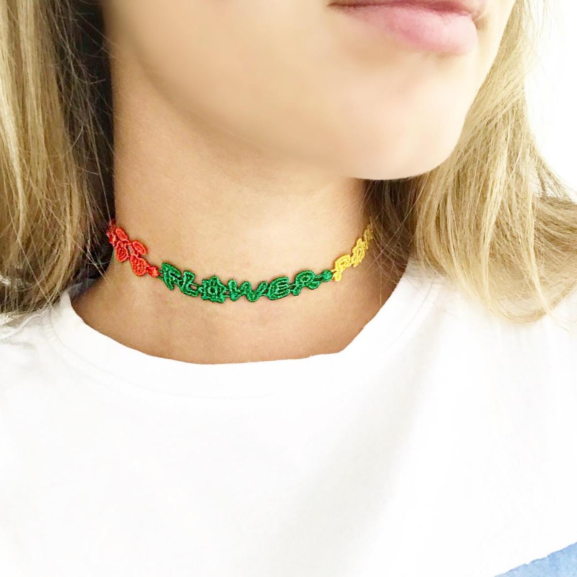 Čelenka / náhrdeľník / náramok CRUCIANI Flower power