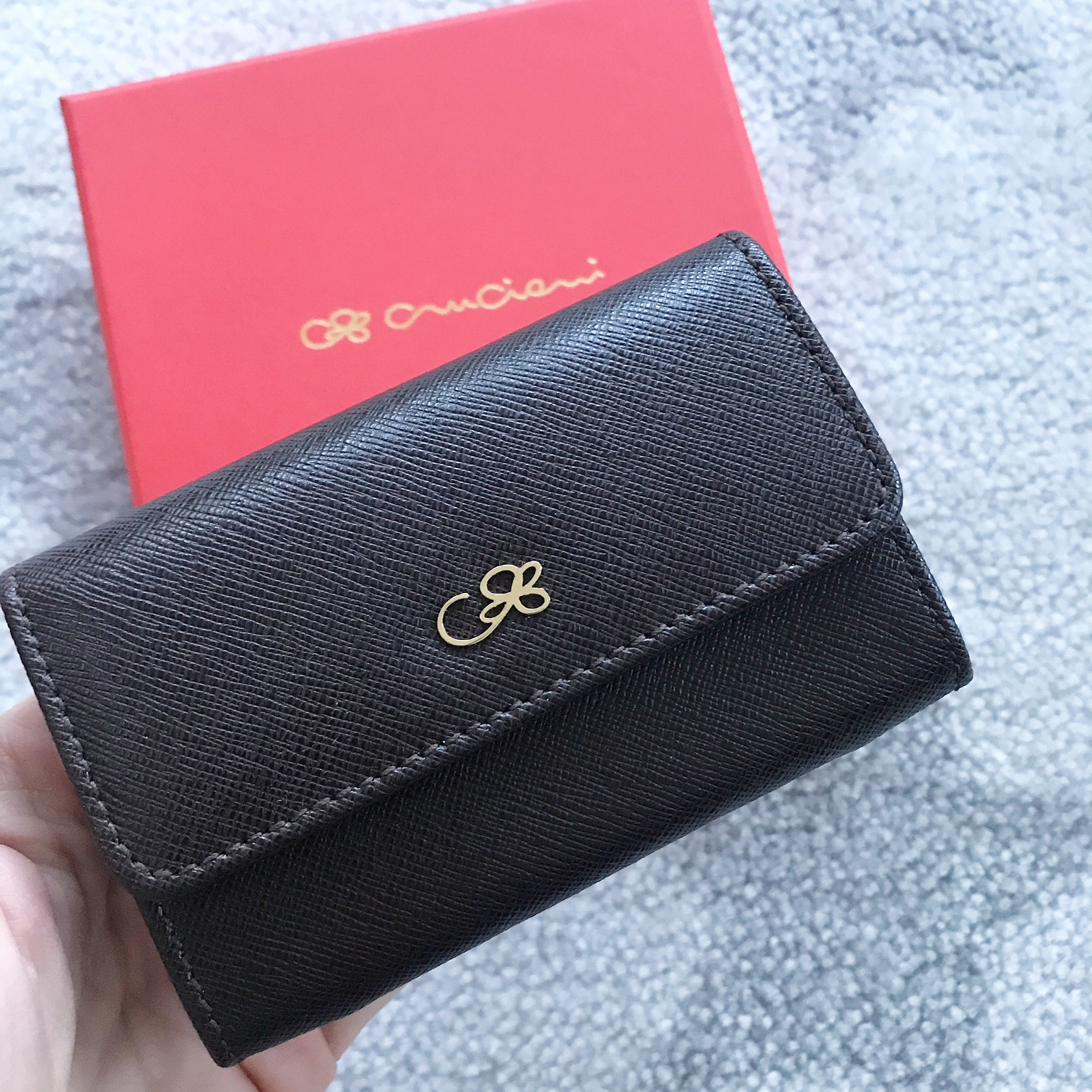 Kožená peňaženka CRUCIANI , Tmavohnedá