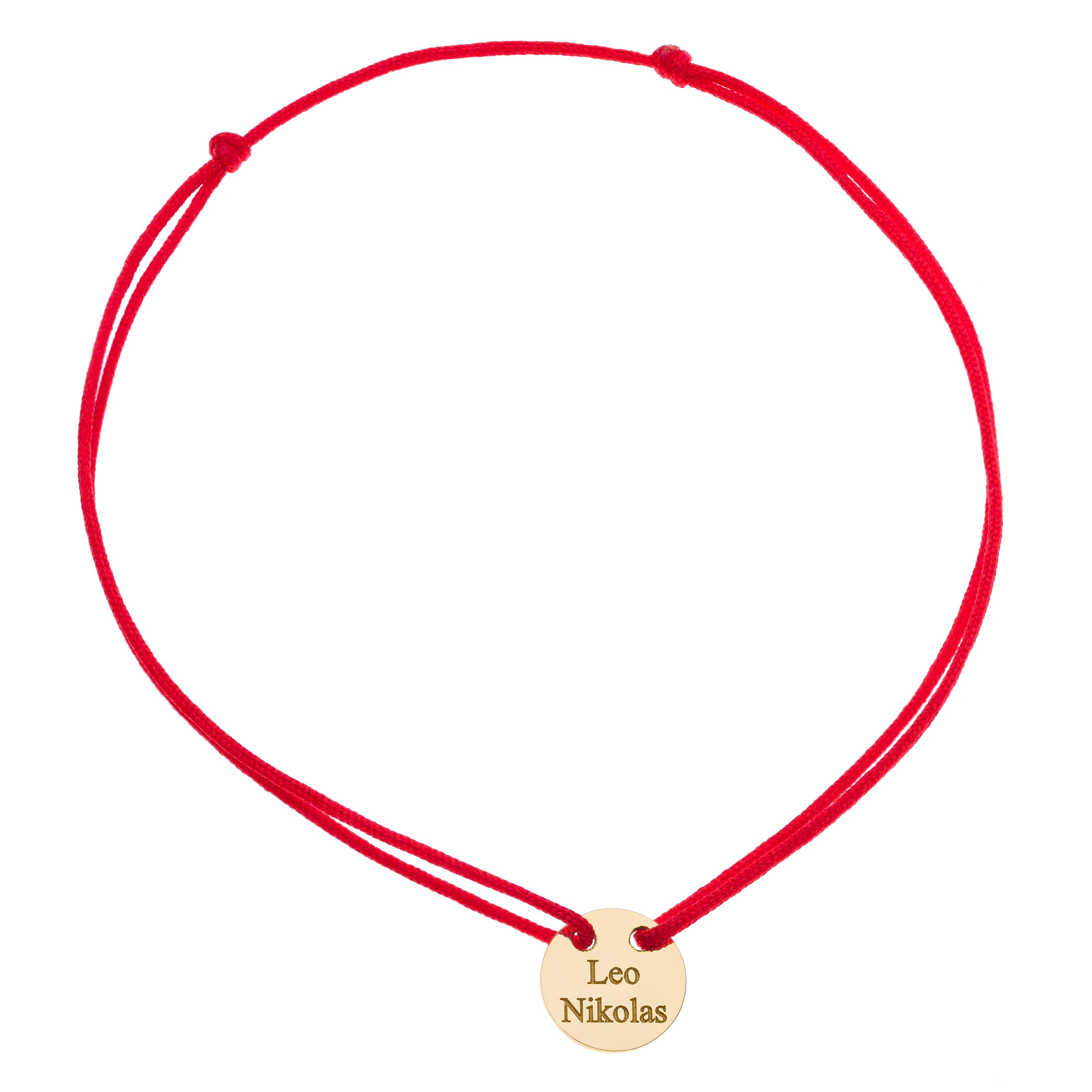 Náramok BY LEON.Y. striebro 925, Medailón pre šťastie