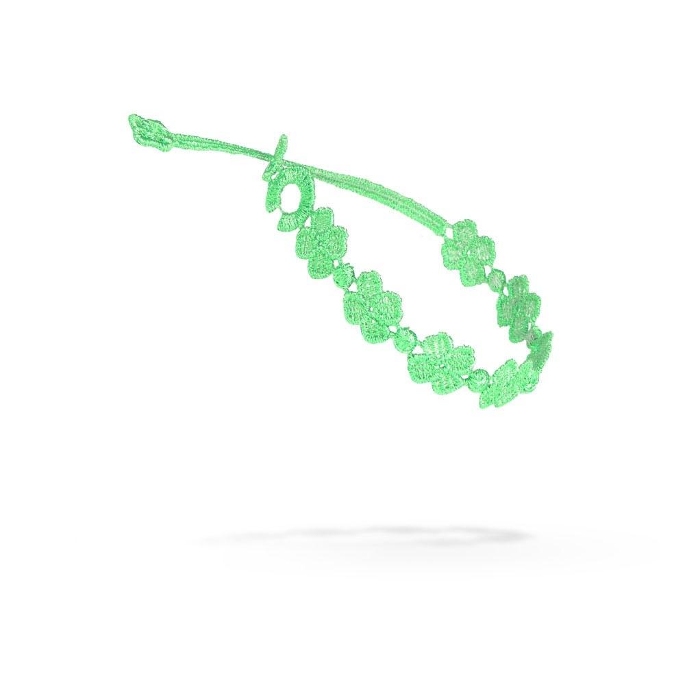 Náramok CRUCIANI Štvorlístok neonová zelená
