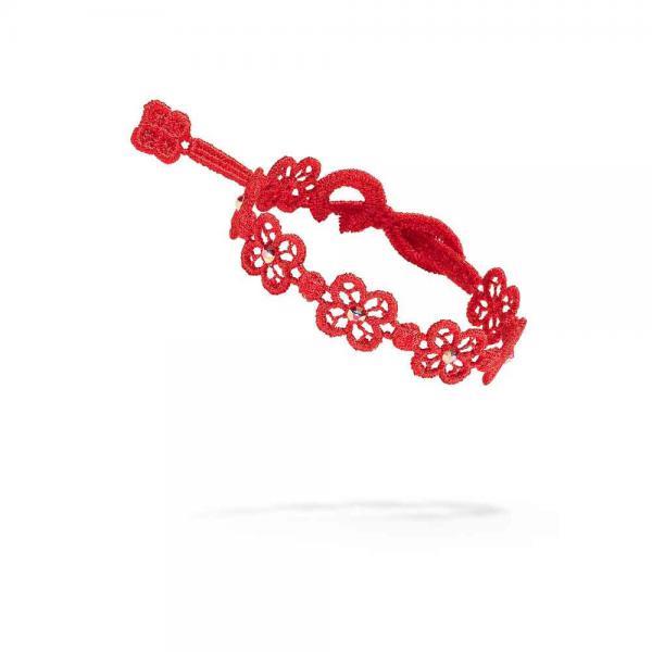 Náramok CRUCIANI Štvorlístok Happy SWAROVSKI crystal červená