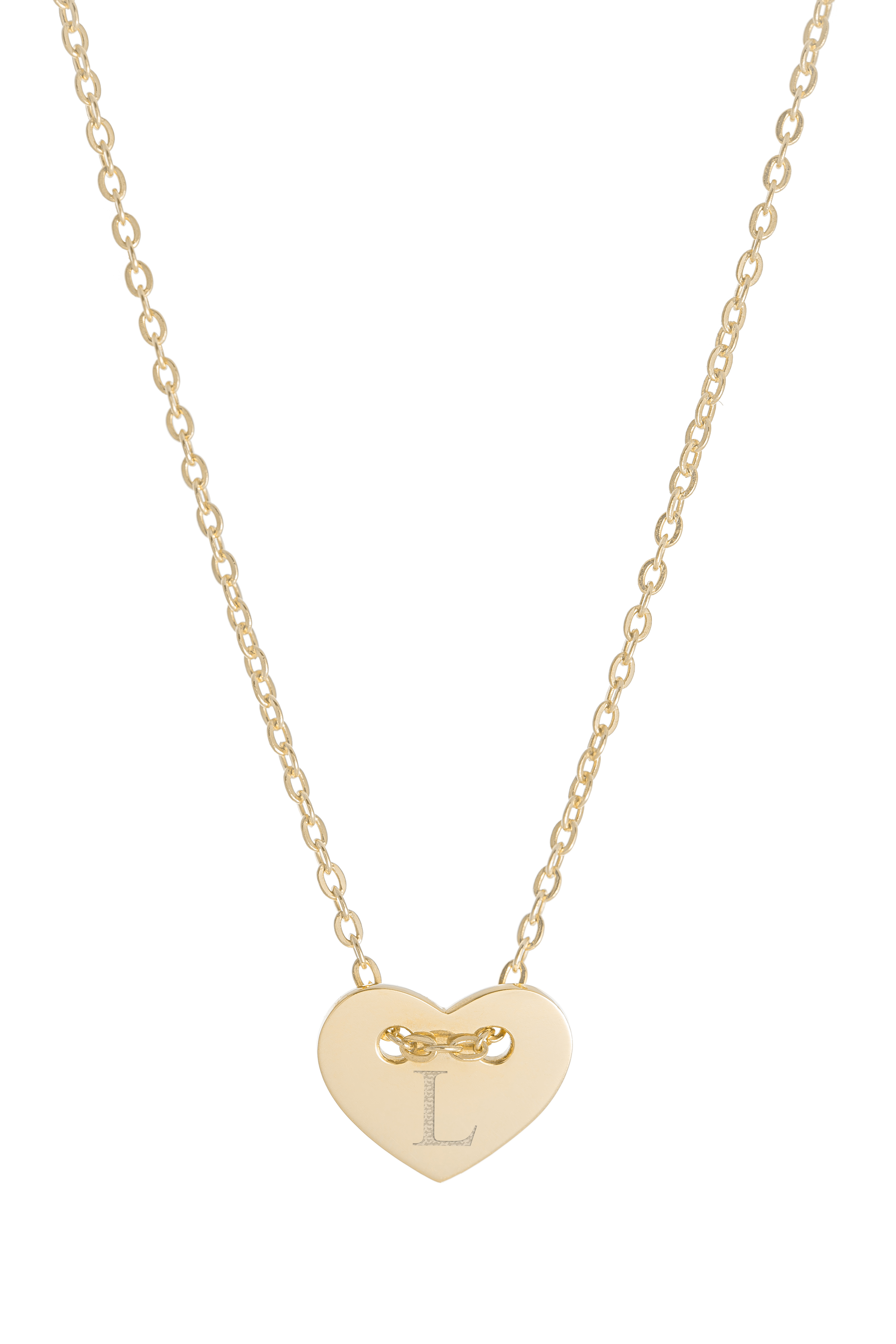 Náhrdelník BY LEON.Y. 14kt zlato, Srdiečko iniciál A - Z