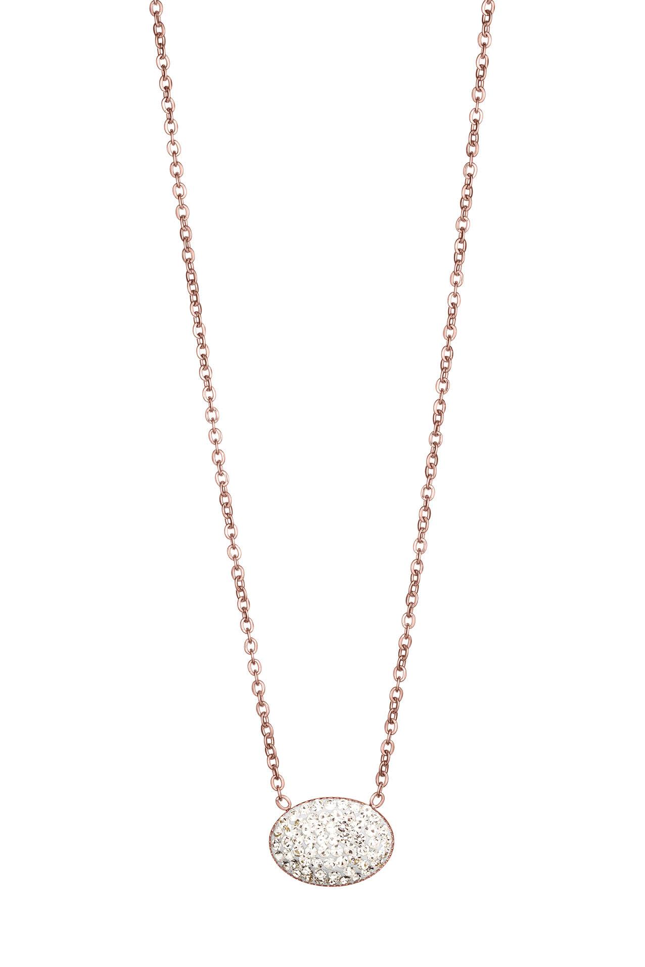 Náhrdelník QUDO, GENUA ružovozlatý - Swarovski kryštáľ