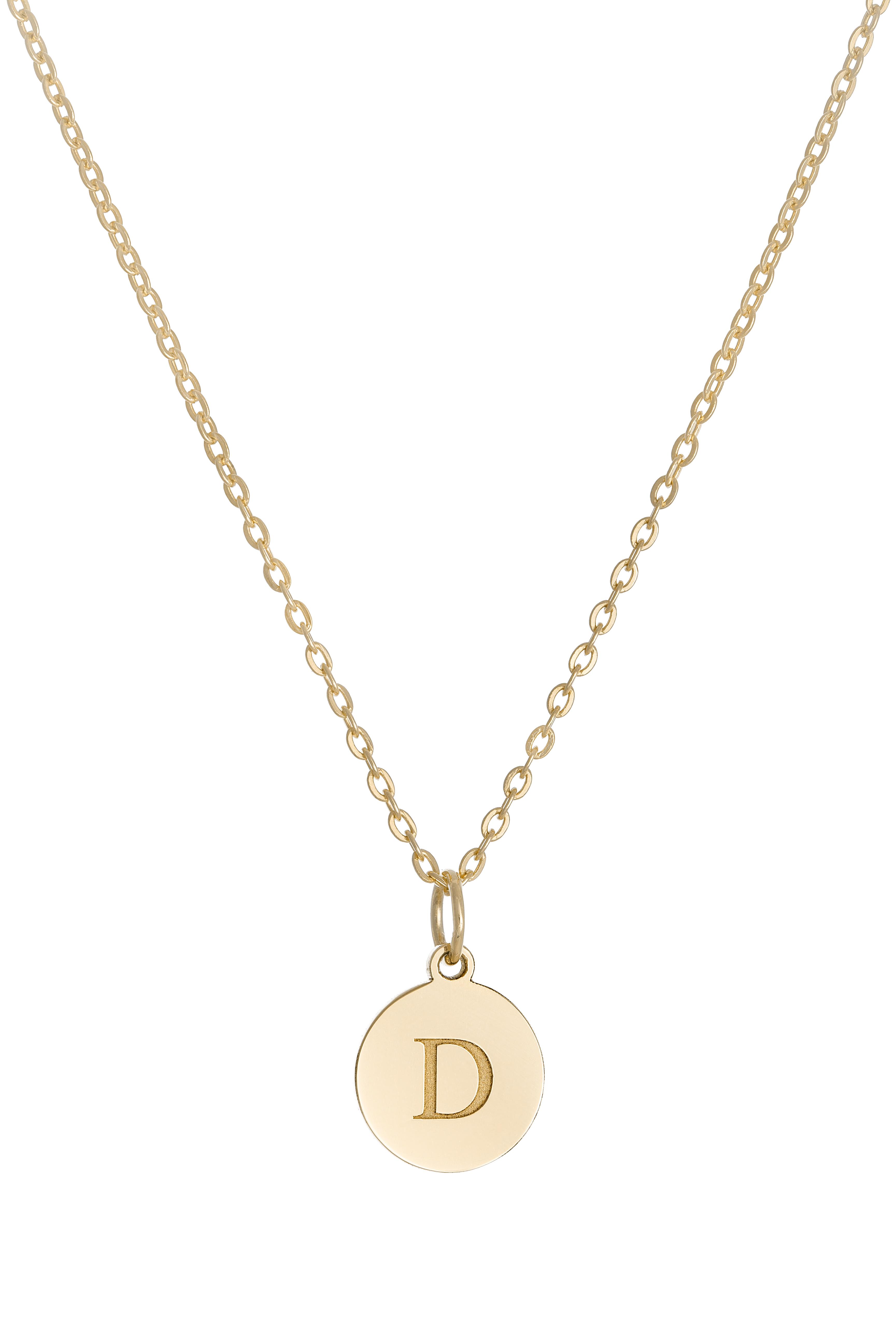 Náhrdelník BY LEON.Y. 14kt zlato, Medailón iniciál A - Z