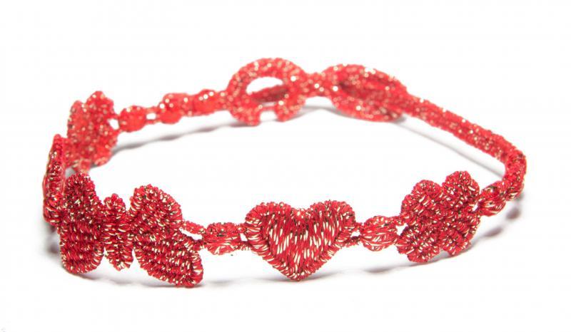 Náramok CRUCIANI Šťastie - láska - hojnosť lesklá červená