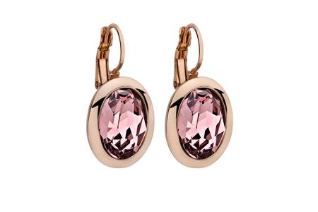 Náušnice QUDO, TIVOLA classic - ružovozlaté - svetlo ružová