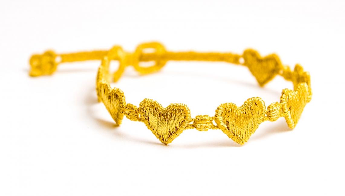 Náramok CRUCIANI Srdiečko žltá