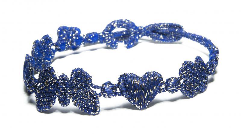 Náramok CRUCIANI Šťastie - láska - hojnosť lesklá modrá