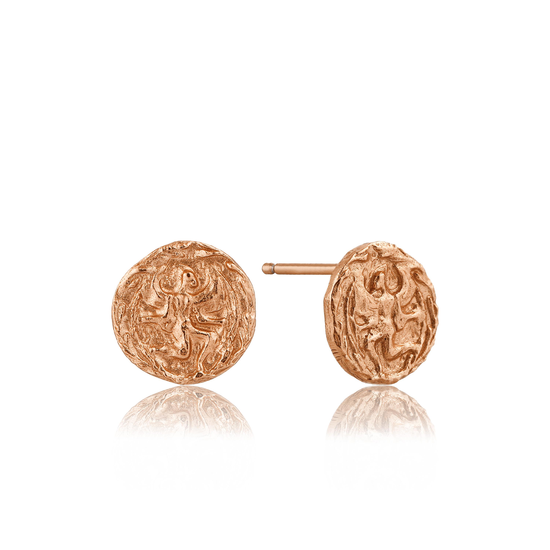 Náušnice s rímskou mincou ANIA HAIE, Striebro 925 - Ružovozlaté