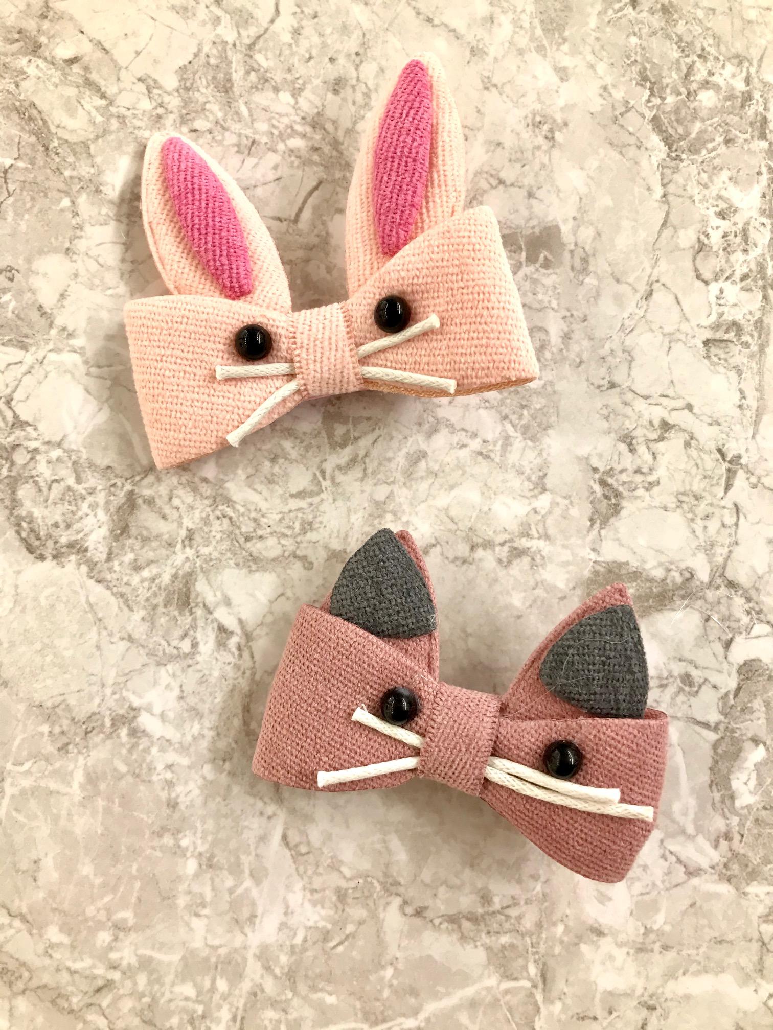 Štipčeky do vlasov - KIDS - Zajačik / Myška