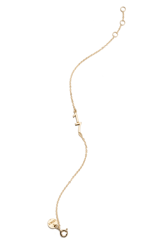 Náramok BY LEON.Y. 14kt zlato, Číslo/dátum pre šťastie