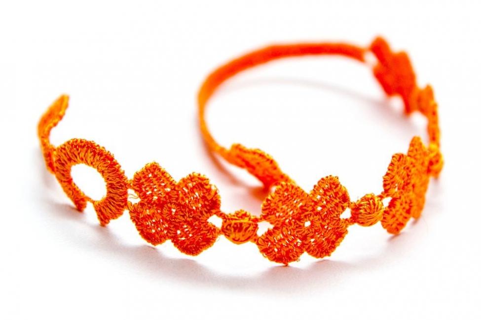 Náramok CRUCIANI detský Štvorlístok oranžová