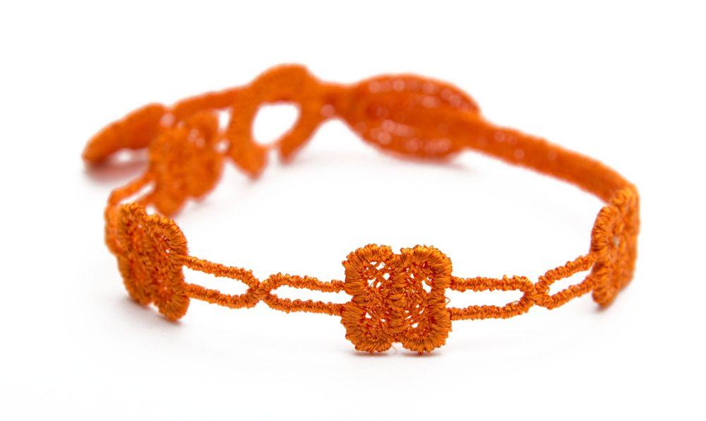 Náramok CRUCIANI detský Štvorlístok slim oranžová