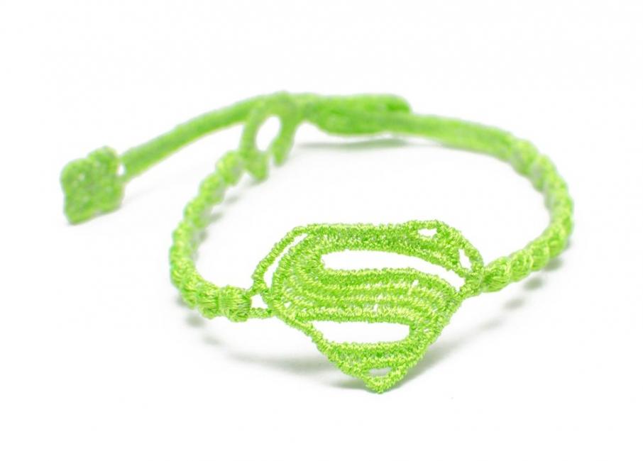 Náramok CRUCIANI Superman neónovo zelená
