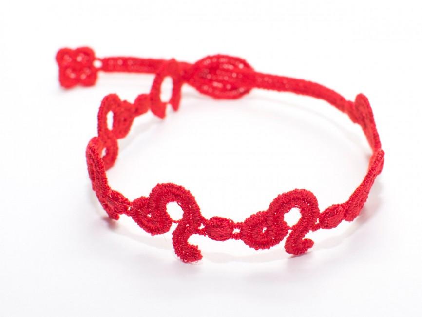 Náramok CRUCIANI Znamenie LEV červená