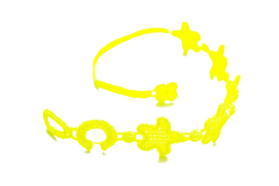 Náramok CRUCIANI Hviezda šťastia neónovo žltá