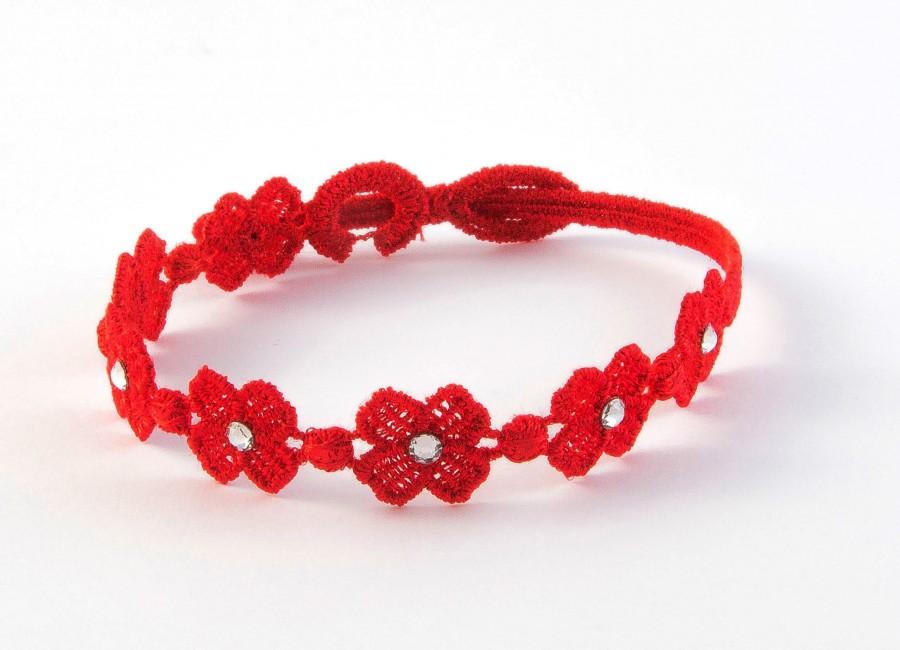 Náramok CRUCIANI Swarovski štvorlístok pre šťastie červená