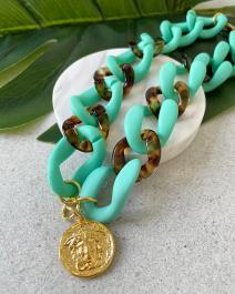Náhrdelník GOUPI - Turquoise chain - MEDUSA
