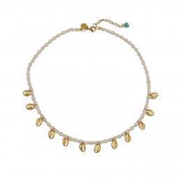 Náhrdelník MAYOL, s 24 kt pozlátením a riečnymi perličkami - Souvenirs