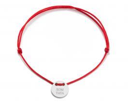 Červená šnúrka, medajlón striebro, SOM TATA