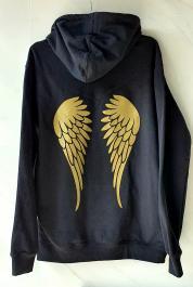 Mikina s kapucňou - ANGEL INSIDE - čierna