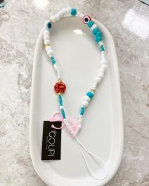 Prívesok na mobil GOUPI - phone strap - Turquoise