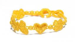 Náramok CRUCIANI Šťastie - láska - hojnosť žltá