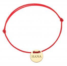 Červená šnúrka, 14kt zlato, Hana - detský, dámsky aj pánsky