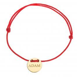 Červená šnúrka, 14kt zlato, Adam - detský, dámsky aj pánsky