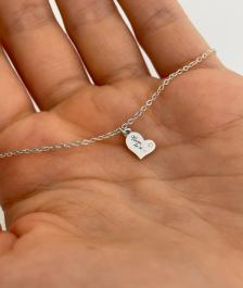Miriam BY LEON.Y. - 14 kt biele zlato 585 s diamantom - Viem, že si...
