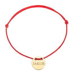 Červená šnúrka, 14kt zlato, Jakub - detský, dámsky aj pánsky