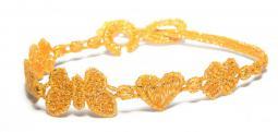 Náramok CRUCIANI Šťastie - láska - hojnosť lesklá oranžová