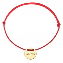 Červená šnúrka, 14kt zlato, Anna - detský, dámsky aj pánsky