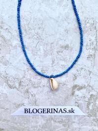Náhrdelník - choker s mušľou OCEAN BLUE