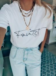 GOUPI - Feminist tričko - 100 % bavlna