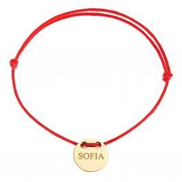 Červená šnúrka, 14kt zlato, Sofia - detský, dámsky aj pánsky