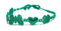Náramok CRUCIANI Šťastie - láska - hojnosť smaragdovo zelená