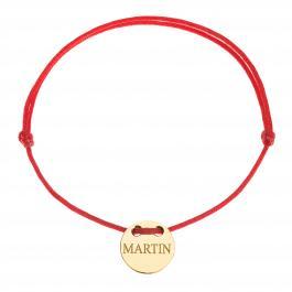 Červená šnúrka, 14kt zlato, Martin - detský, dámsky aj pánsky