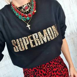 Mikina SUPERMOM - čierna