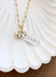 Náhrdelník GOUPI - LUCKY WHITE ELEPHANT