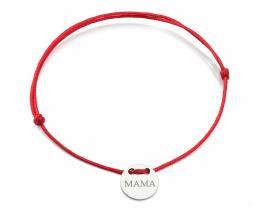 Červená šnúrka, striebro, Mama