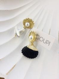 Náušnice GOUPI - BLACK PEARL