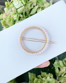 Ručne vyrobená spona/sponka s perlami - Handmade in Greece
