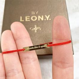 BY LEON.Y. 14 kt zlato platnička - Maminka ľúbim ťa najviac